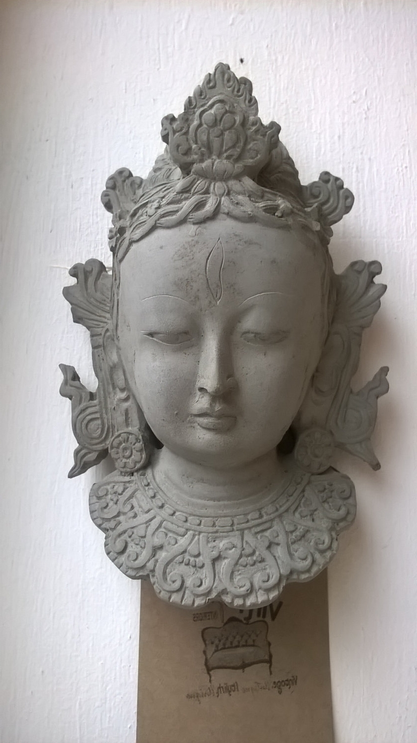 Recent Outdoor Buddha Wall Art In Stone Effect Buddha Head,wall Art, Indoor Outdoor Statue, Garden (View 12 of 15)
