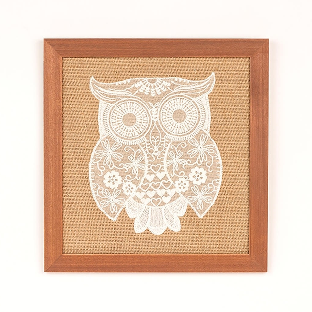 Recent Owl Framed Wall Art Inside Crochet Framed Wall Art – Owl (Gallery 10 of 15)