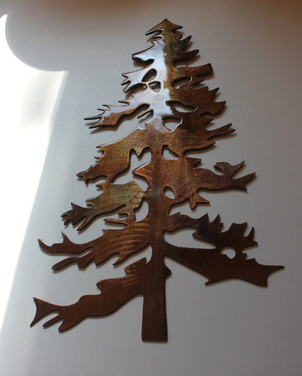 Recent Pine Tree 2 Metal Wall Art Decor For Metal Pine Tree Wall Art (View 11 of 15)