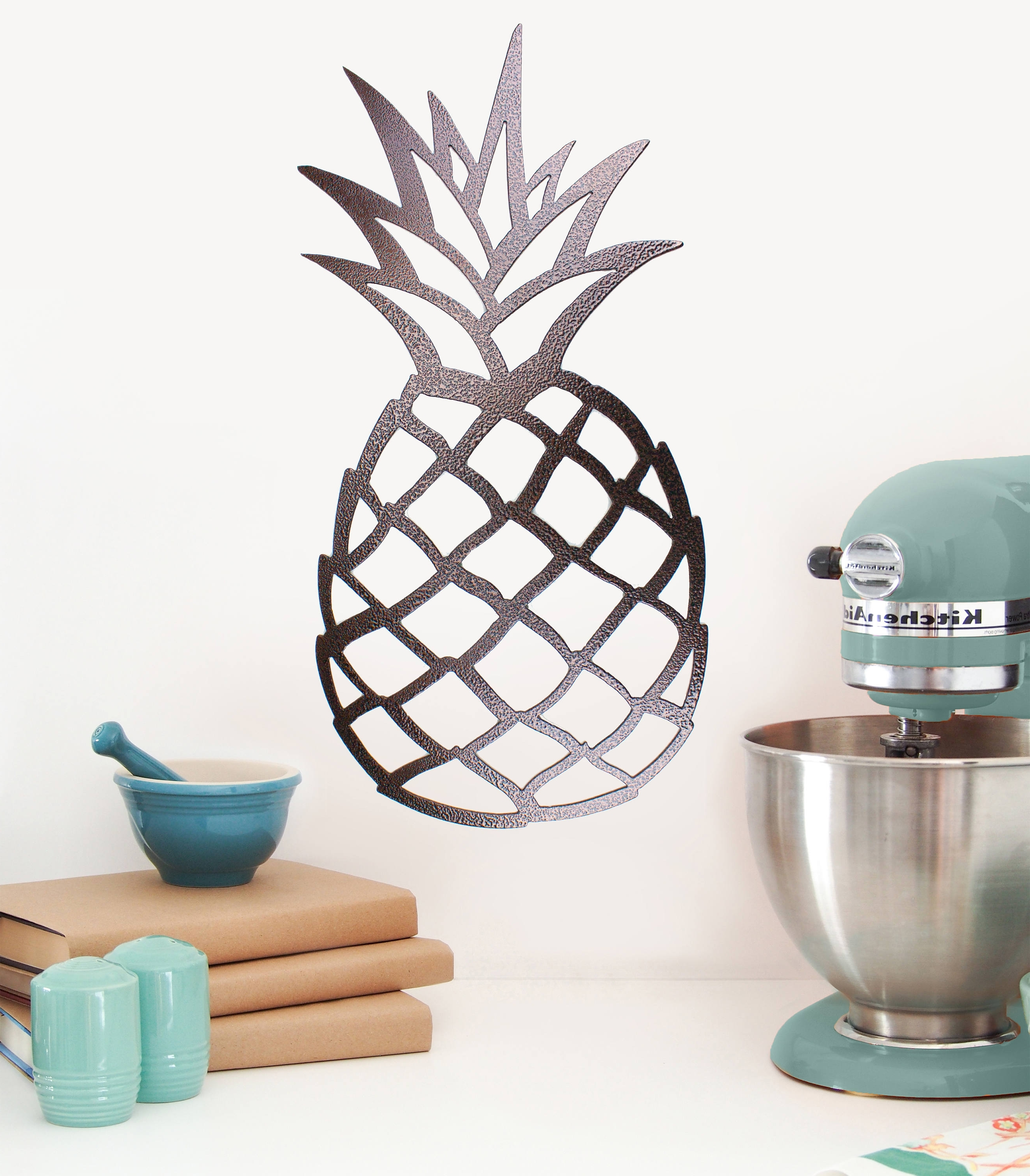 Recent Pineapple Decor, Kitchen Wall Decor, Metal Wall Art, Tropical Wall Pertaining To Pineapple Metal Wall Art (View 14 of 15)