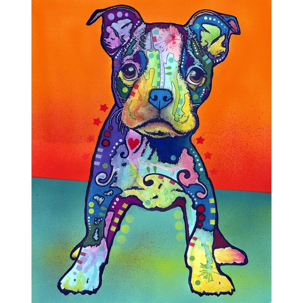 Recent Pitbull Wall Art With Regard To On My Own Pit Bull Puppy Wall Sticker Decal – Animal Pop Art (View 12 of 15)