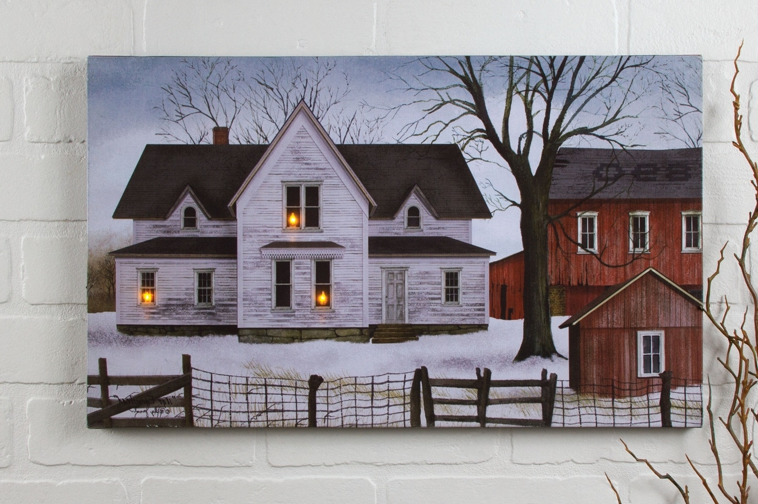 Recent Radiance Lighted Canvas Billy Jacobs Farmstead (View 13 of 15)