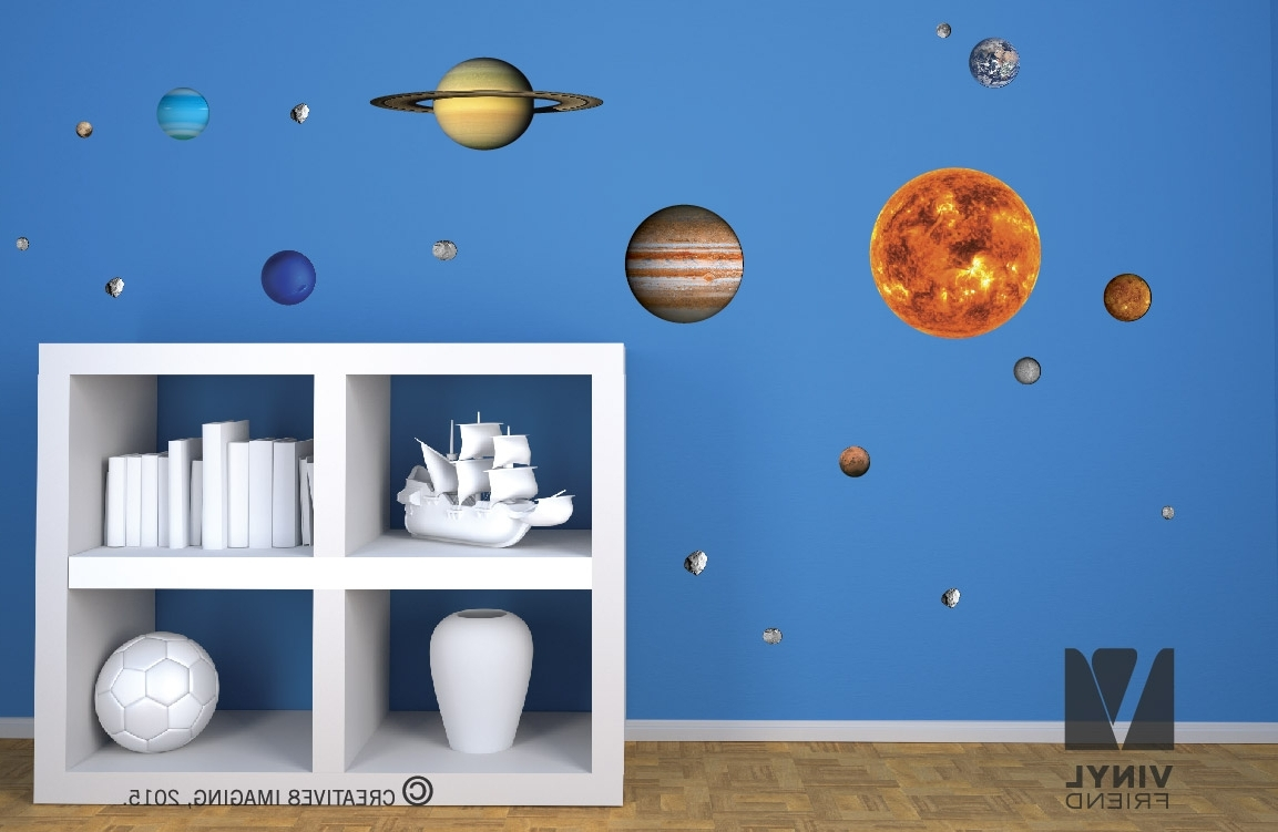 Recent Solar System Vinyl Decal Pack (Reusable, Removalbe, Repositionable Within Solar System Wall Art (View 9 of 15)