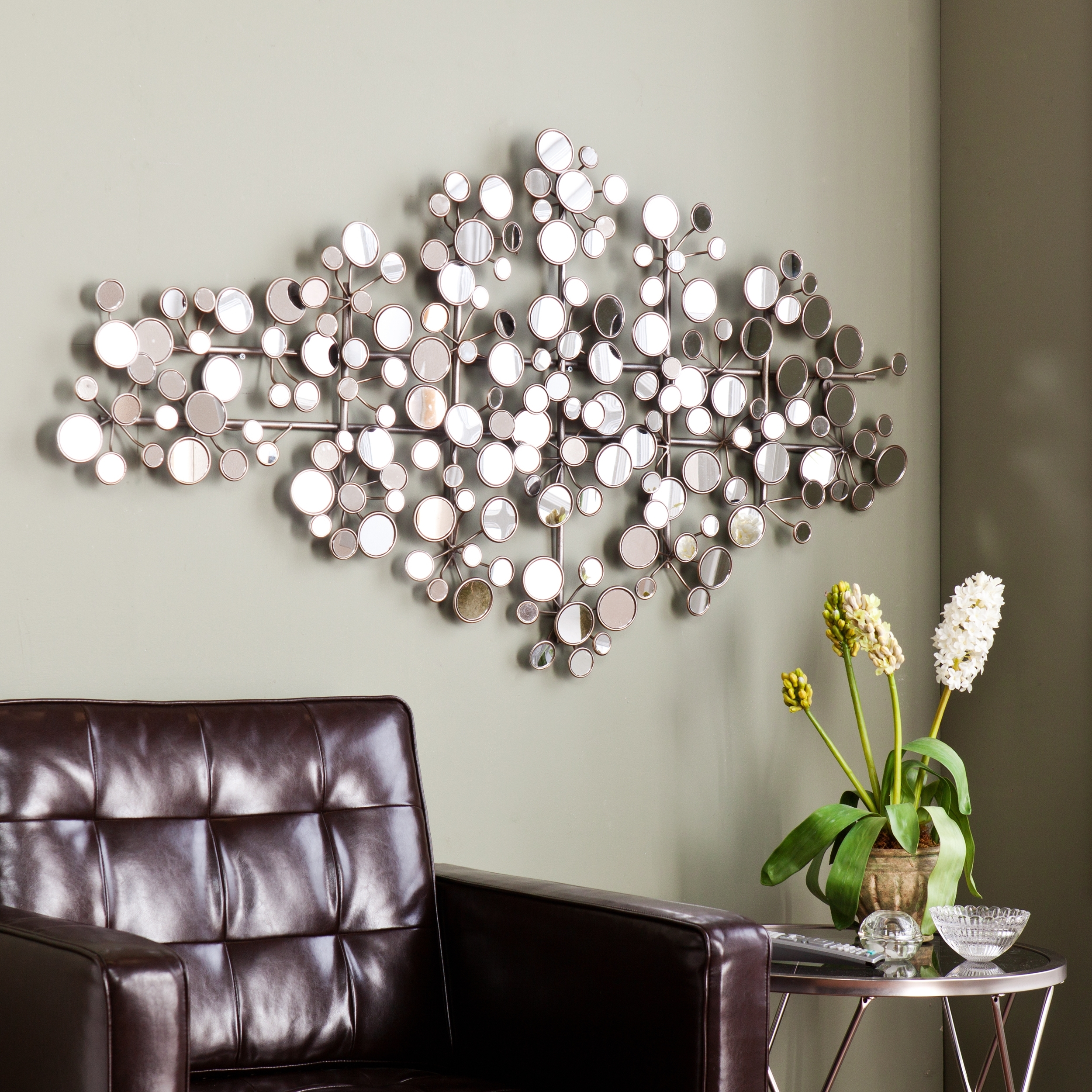 Recent This Upton Home Olivia Mirrored Metal Wall Sculpture Features A Within Modern Mirrored Wall Art (View 12 of 15)