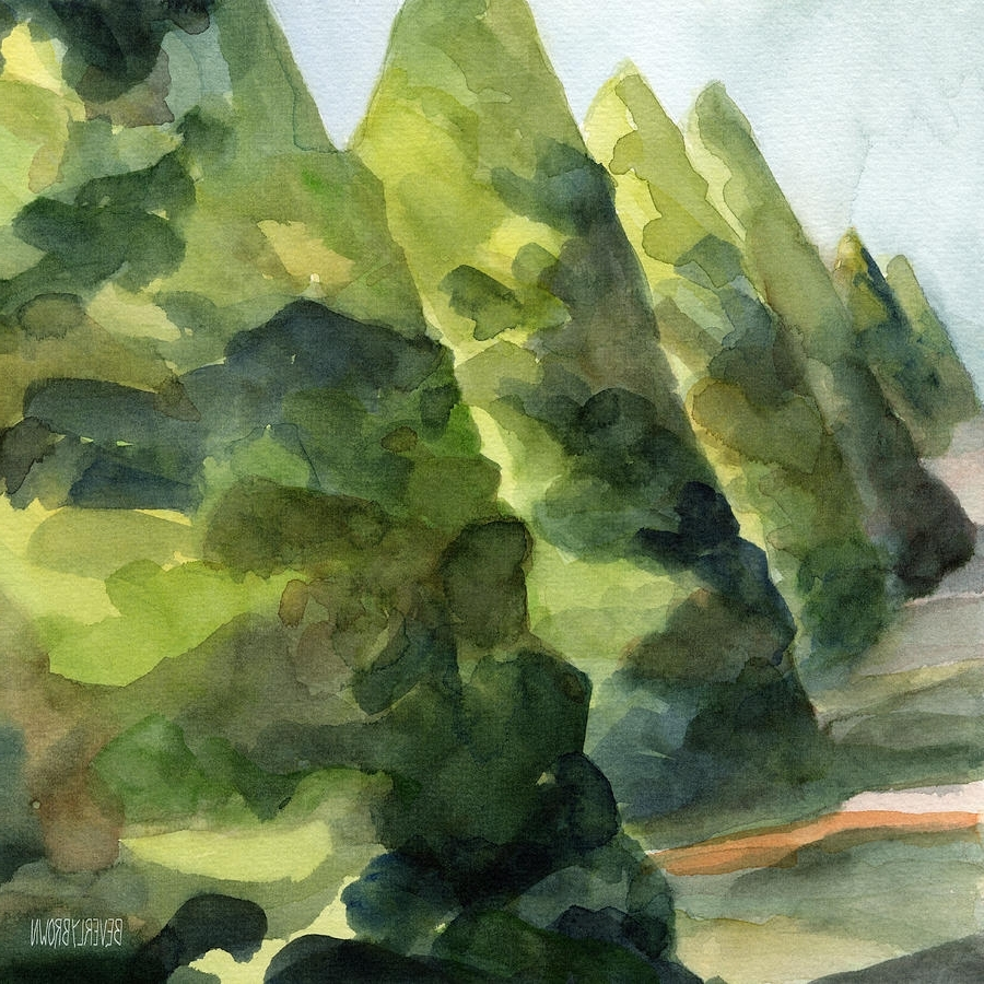Recent Topiary Wall Art Pertaining To Topiary Parc St Cloud Watercolor Painting Of France Painting (View 15 of 15)