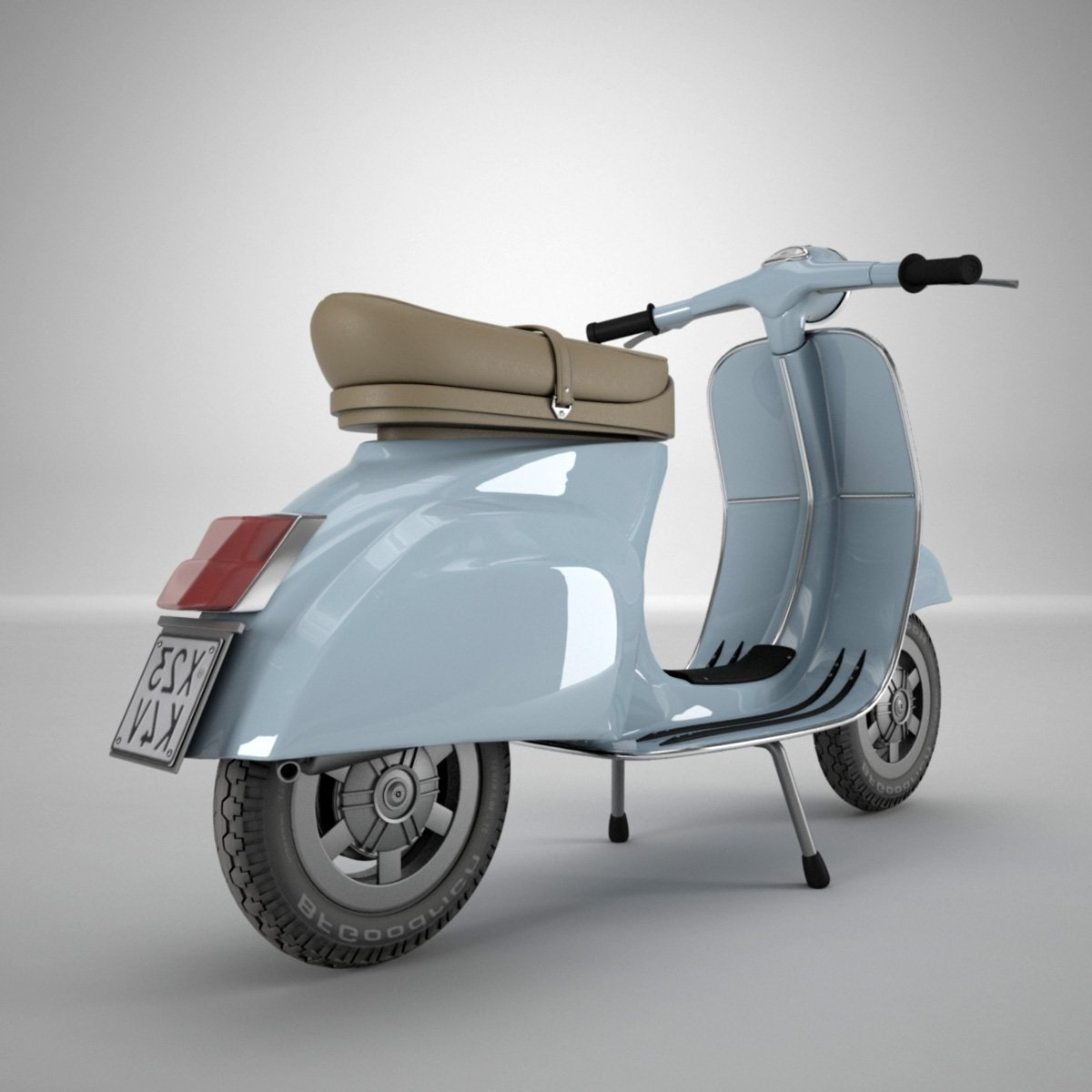 Recent Vespa 3D Wall Art Within Vespa 3D Model In Motorcycle 3Dexport (View 8 of 15)