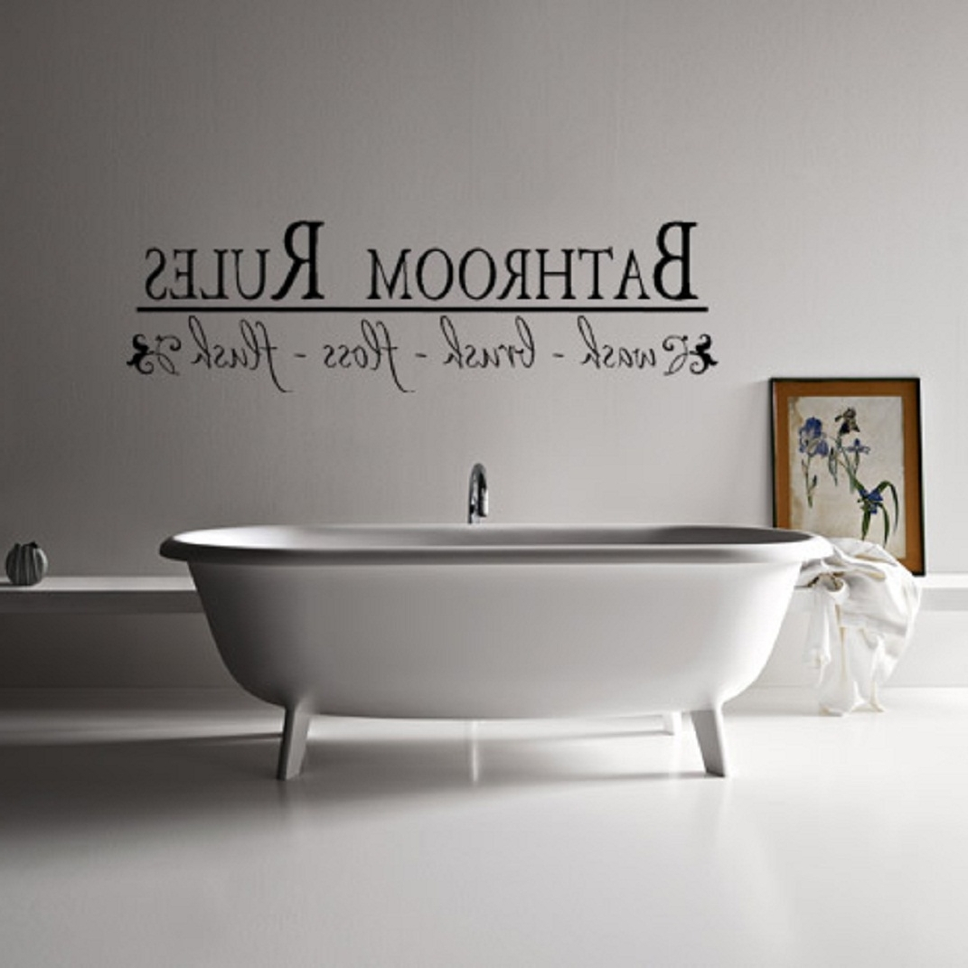Recent Wall Art Design Ideas Farmhouse Design Wall Art For Bathroom With Shower Room Wall Art (View 12 of 15)