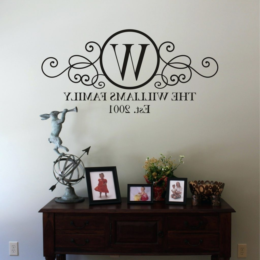 Recent Wall Arts ~ Family Monogram Wall Decal Family Sayings Wall Art Within Family Sayings Wall Art (Gallery 6 of 15)