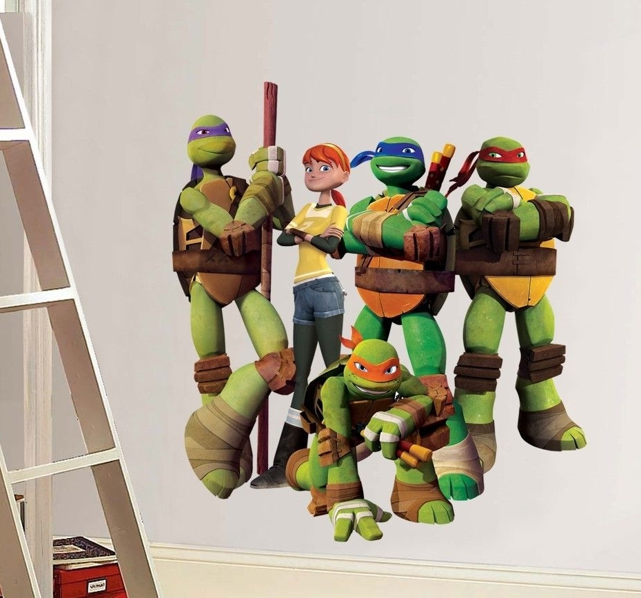 Recent Wall Decal: Amazing Tmnt Wall Decals Ninja Turtles Wall Decals With Tmnt Wall Art (View 12 of 15)