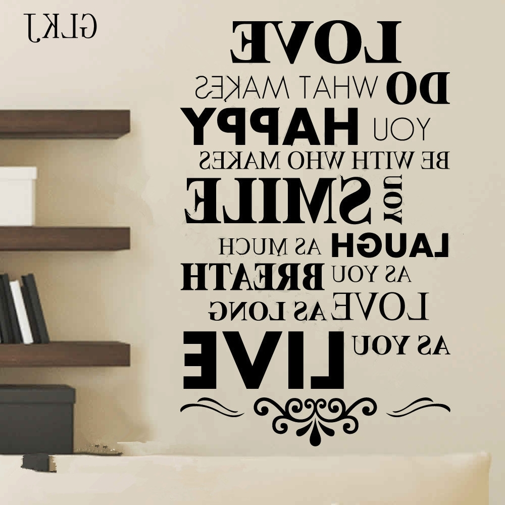 Recent Wall Decals: Charming Inspirational Word Wall Decals For Inspirational Sayings Wall Art (View 9 of 15)
