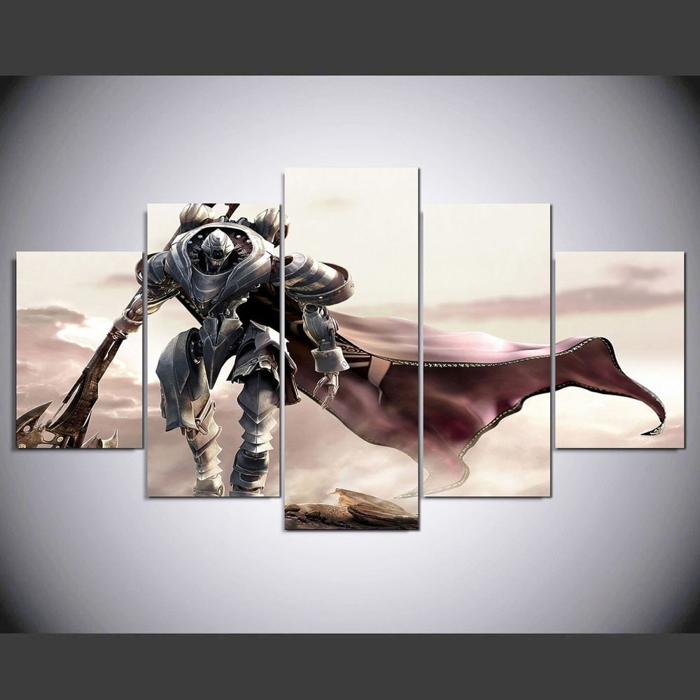 Recent Ysdafen Printed Samurai Game Characters 5 Piece Painting Wall Art Throughout Samurai Wall Art (View 5 of 15)