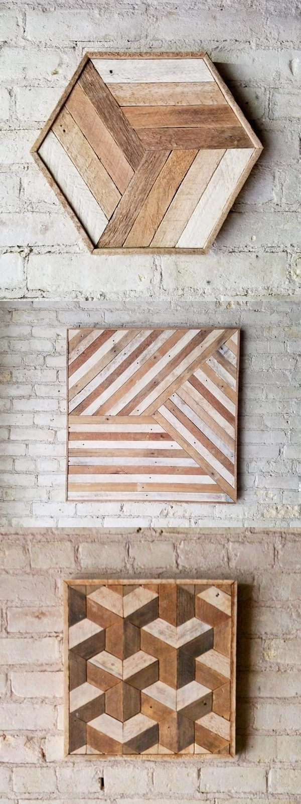 Reclaimed Wood Art,  (View 7 of 15)