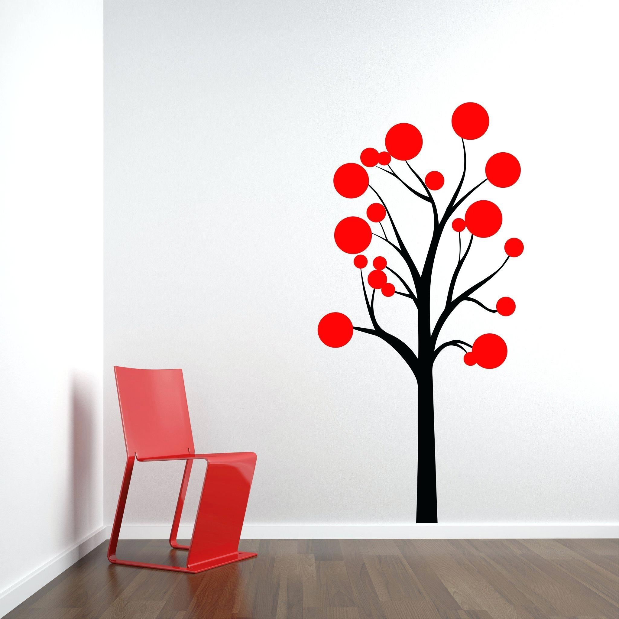 Red Cherry Blossom Wall Art In Current Red Tree Wall Decal Chic Wall Decor See Larger Image Cherry (View 11 of 15)