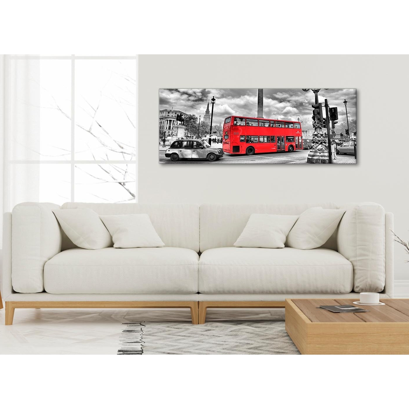 Red London Bus – Street Scene Cityscape Bedroom Canvas Pictures Inside Well Known London Scene Wall Art (View 13 of 15)