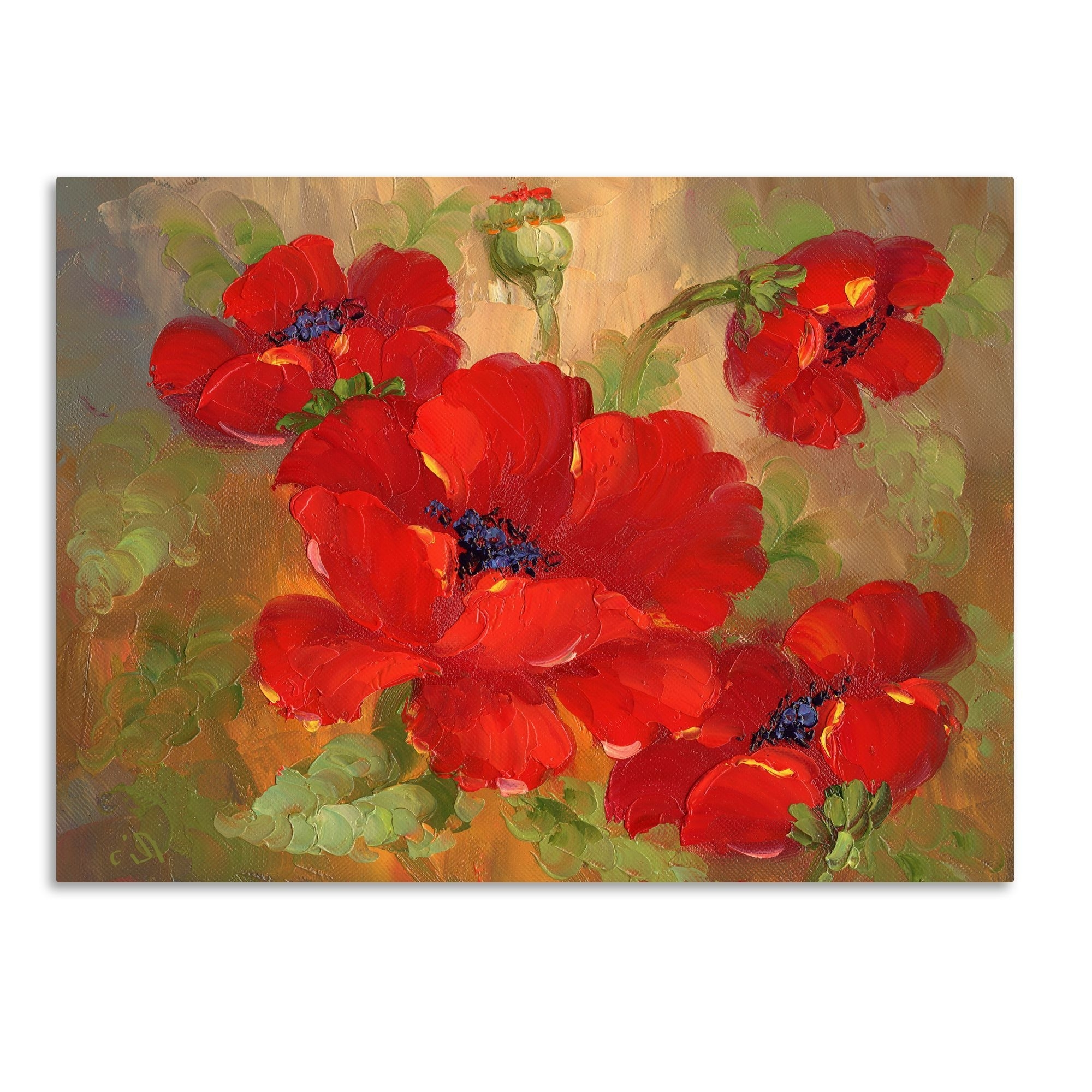 Red Poppy Canvas Wall Art Inside Widely Used This Ready To Hang, Gallery Wrapped Art Piece Features Red Poppies (View 10 of 15)