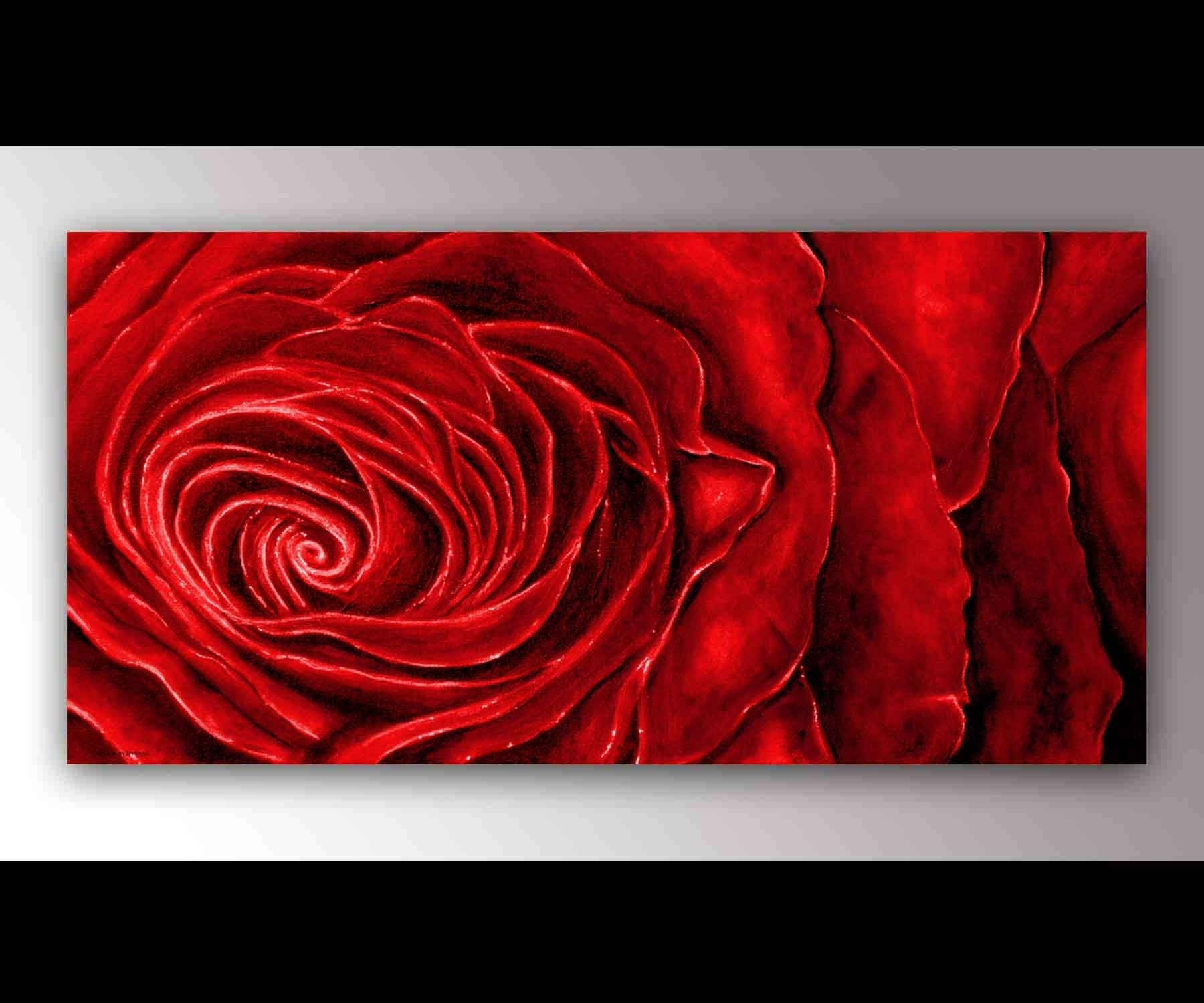 Red Roses Canvas (View 11 of 15)