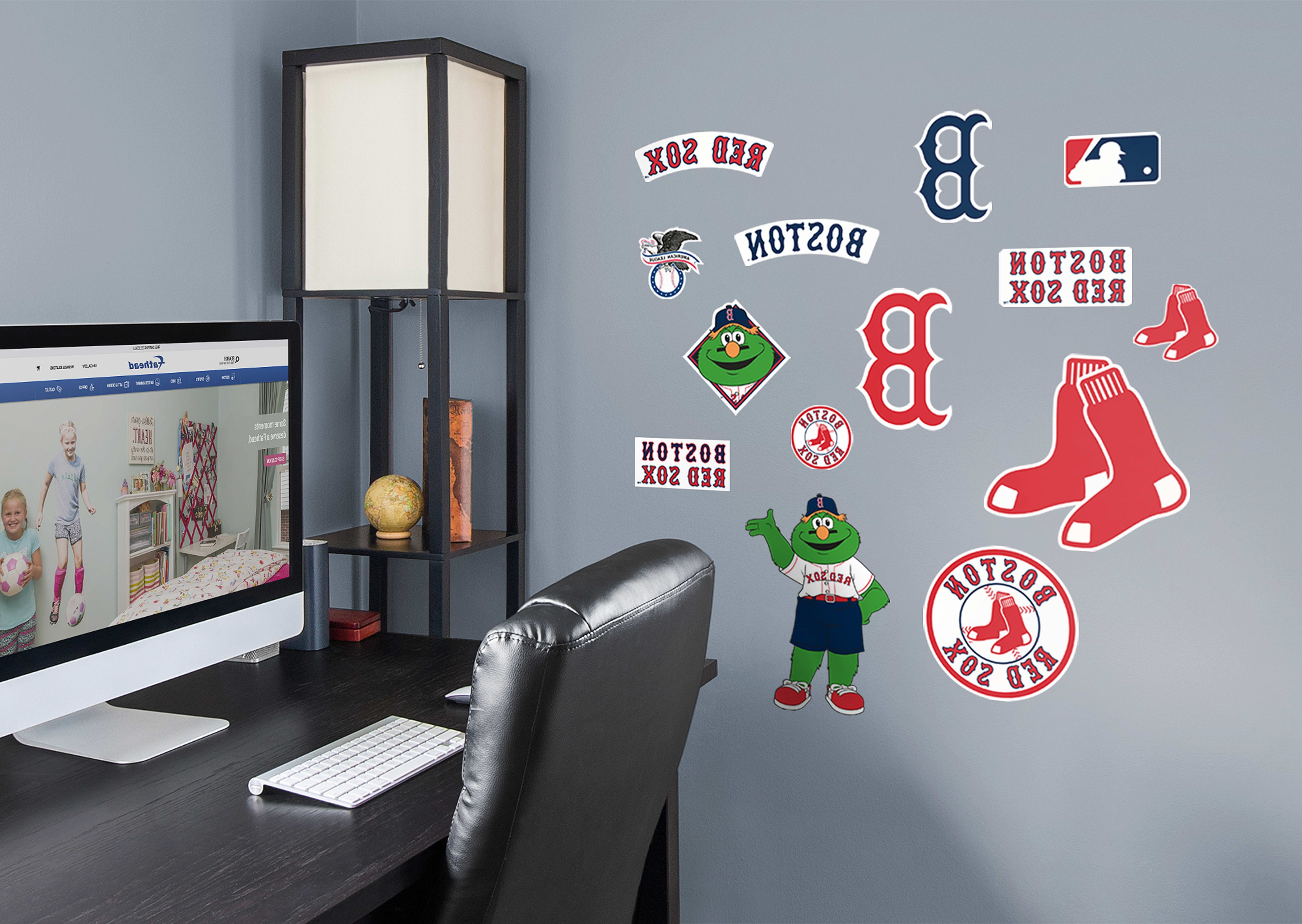 Red Sox Wall Decals Within Most Recently Released Boston Red Sox – Logo Assortment Wall Decal (View 7 of 15)