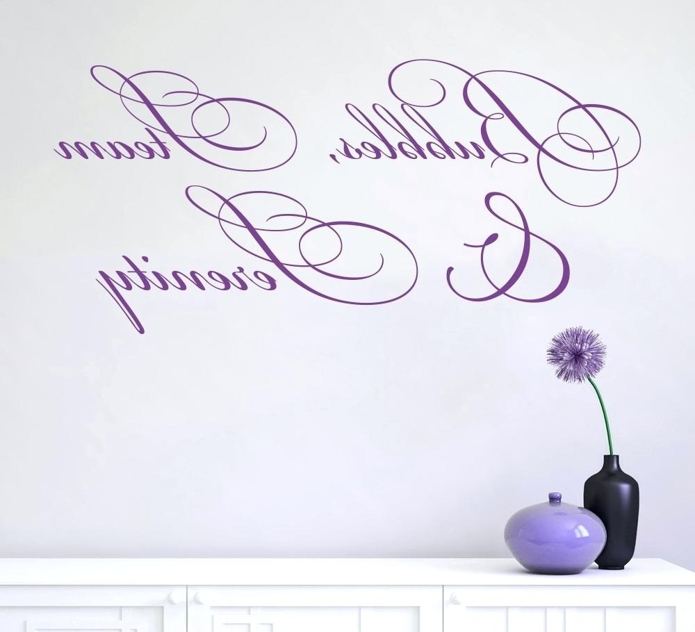 Removable Wall Decals For Bathroom Wall Art For Bathroom The In Fashionable Purple Bathroom Wall Art (View 11 of 15)
