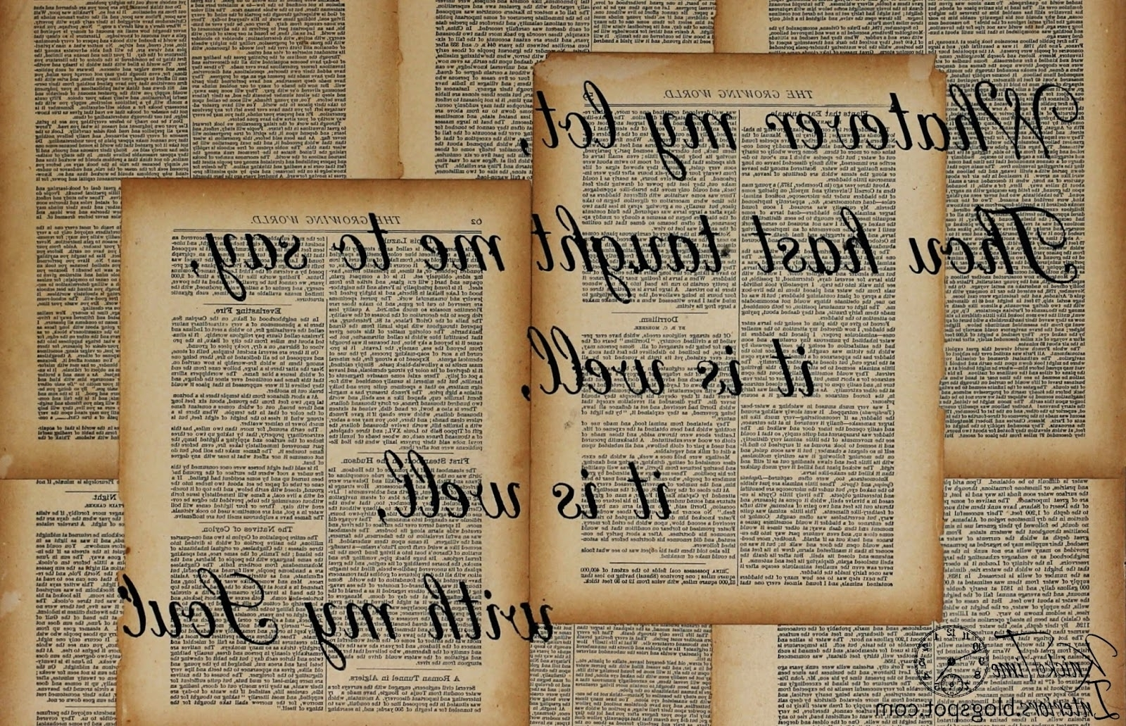 Repurposed Book Page Canvas Hymn Art – Knick Of Time In Most Recent Decoupage Wall Art (View 3 of 15)