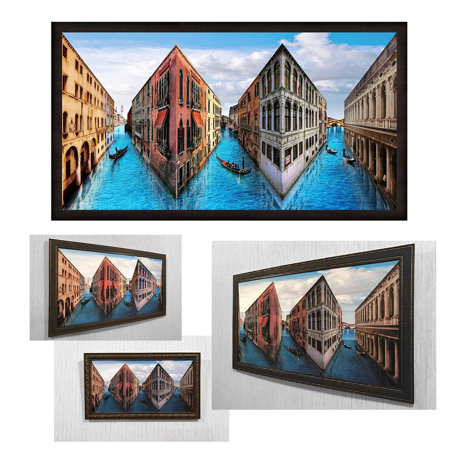 Reverspective, Reverse Perspective Poster Venice, 3D Wall Art With Regard To Most Popular 3D Wall Art Illusions (View 11 of 15)
