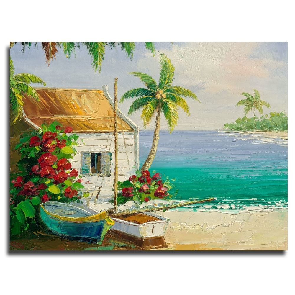 Rio 'key West Breeze' Canvas Art – Free Shipping Today – Overstock Throughout Well Known Overstock Abstract Wall Art (Gallery 4 of 15)