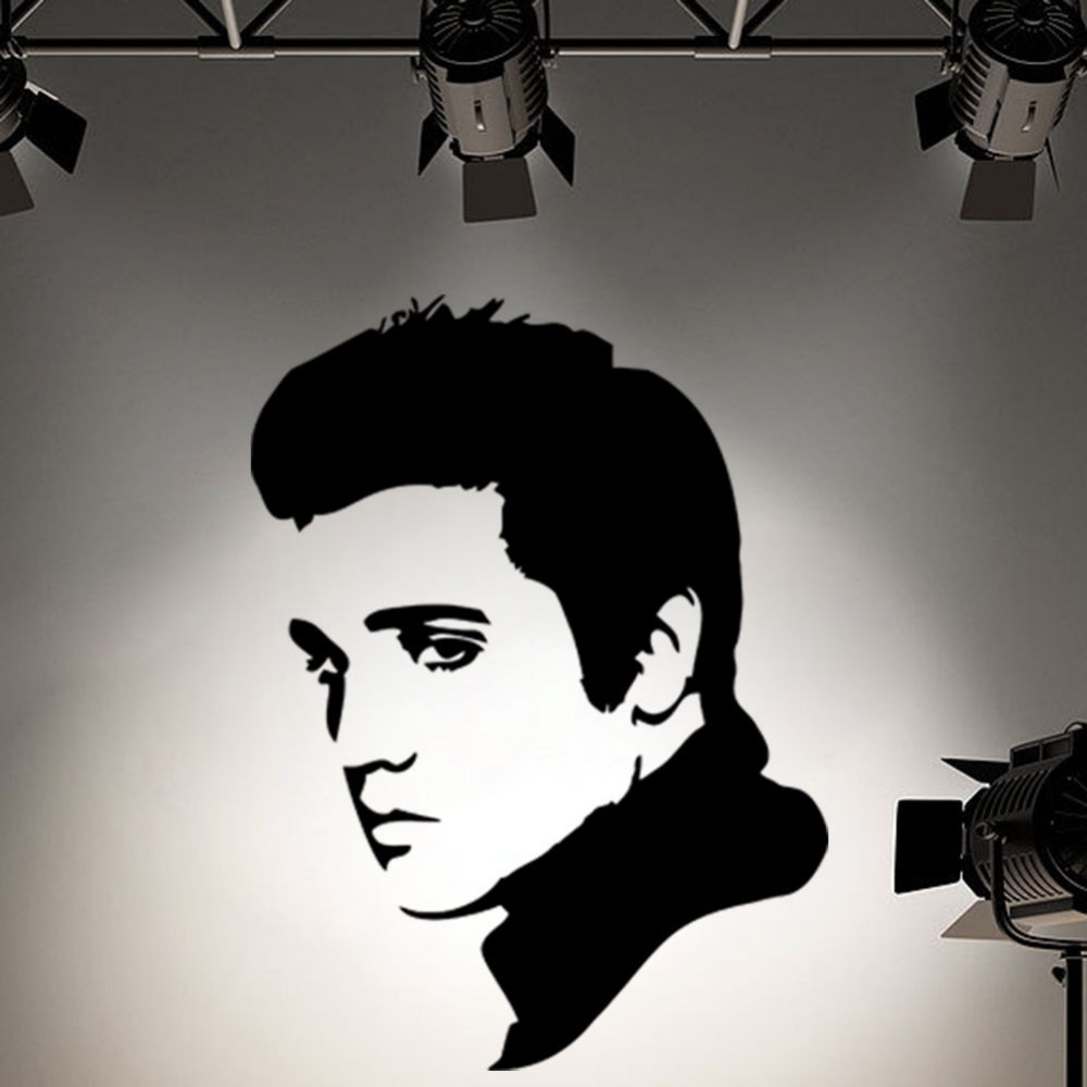 Rock And Roll Wall Art Pertaining To Fashionable 2017 New Rock Roll Elvis Presley Face Wall Art Decoration Vinyl (View 8 of 15)