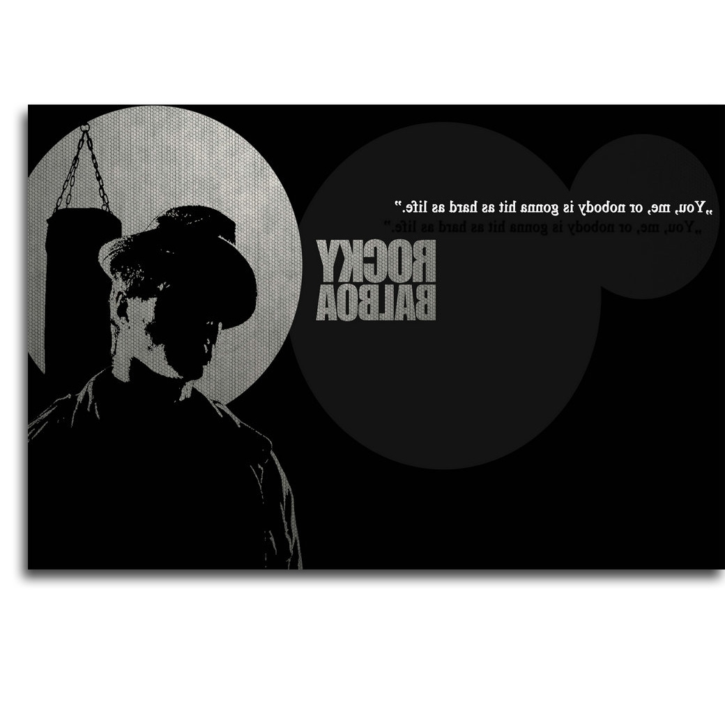 Rocky Balboa Motivational Quote Art Silk Poster Print With Well Known Rocky Balboa Wall Art (View 9 of 15)