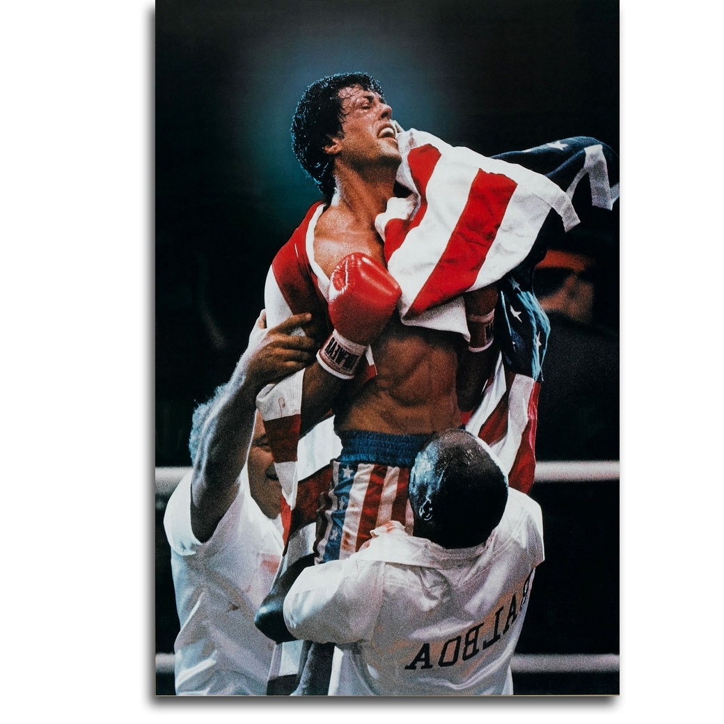 Rocky Balboa Wall Art Intended For Well Known Rocky Balboa Boxing Art Silk Poster Print 13x20 24x36 Inch (View 11 of 15)