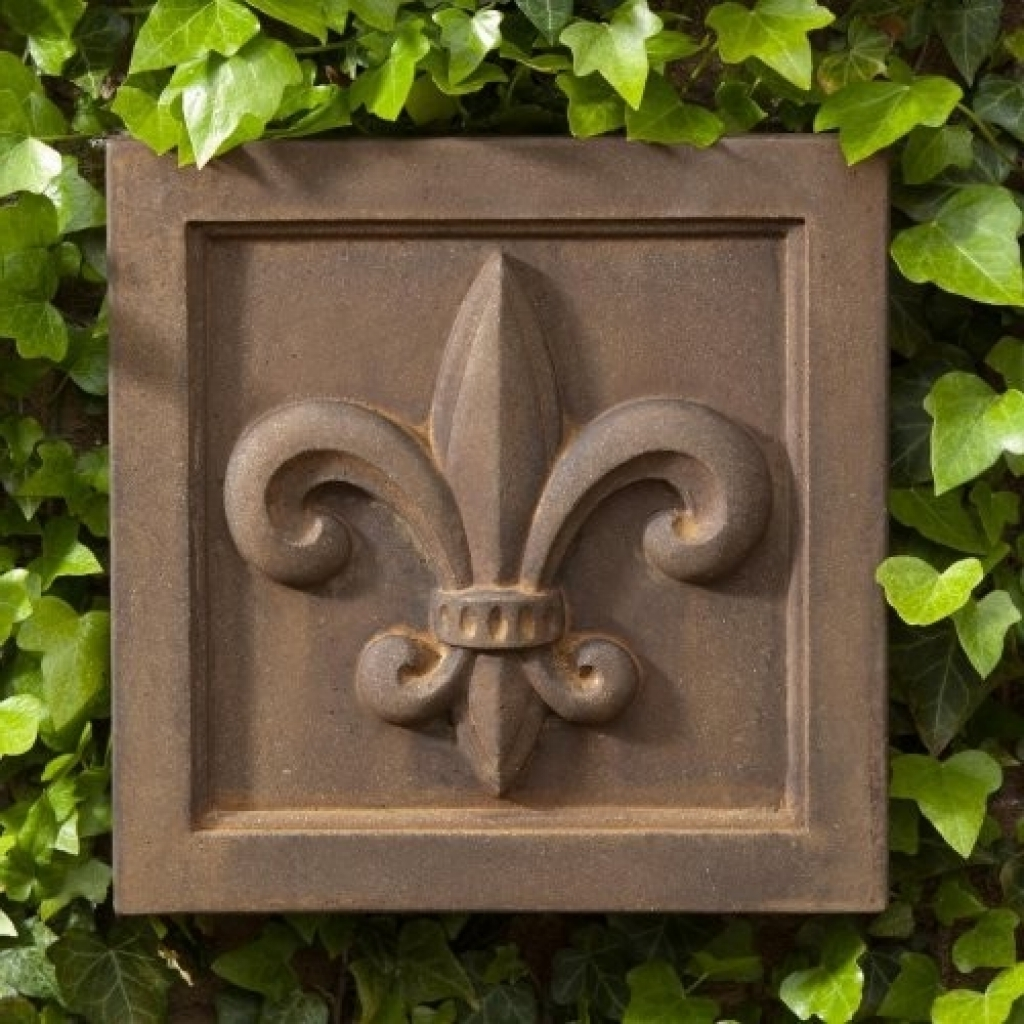 Room Ornament Fleur De Lis Outdoor Wall (View 12 of 15)