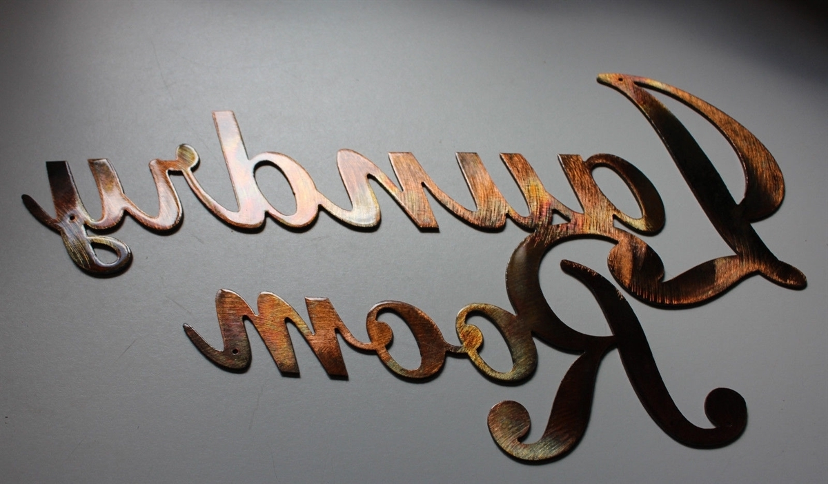 Room Sign Metal Wall Art Decor Copper/bronze Plated Intended For Best And Newest Laundry Room Wall Art Decors (View 13 of 15)
