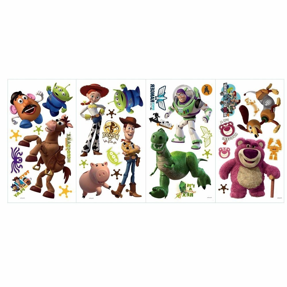 Roommates 5 In. X 11.5 In. Toy Story 3 Peel And Stick Wall Decals Pertaining To Widely Used Toy Story Wall Stickers (Gallery 4 of 15)