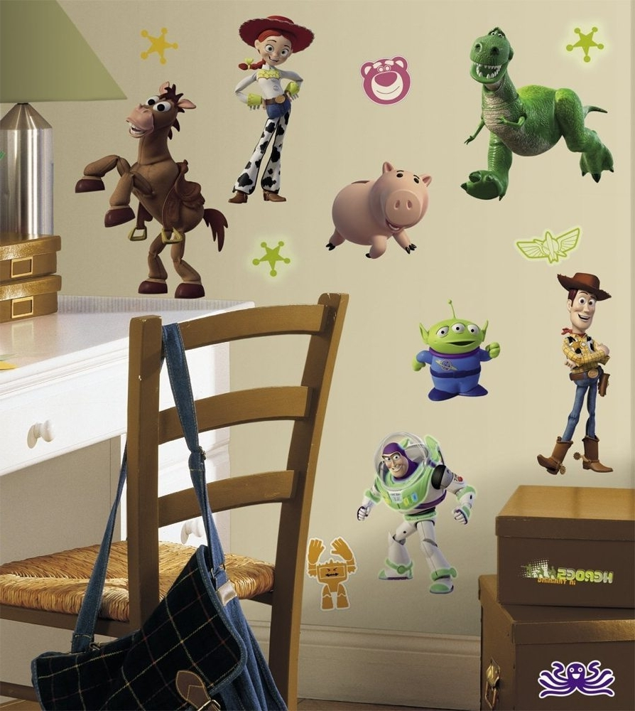 Roommates Rmk1428scs Toy Story Peel And Stick Wall Decals Glow In With Best And Newest Toy Story Wall Stickers (View 3 of 15)