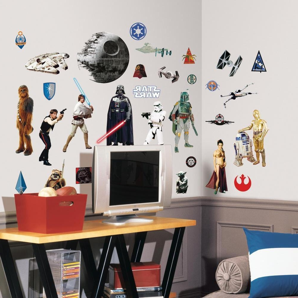 Roommates Rmk1586Scs Star Wars Classic Peel And Stick Wall Decals In Well Liked Lego Star Wars Wall Art (Gallery 12 of 15)