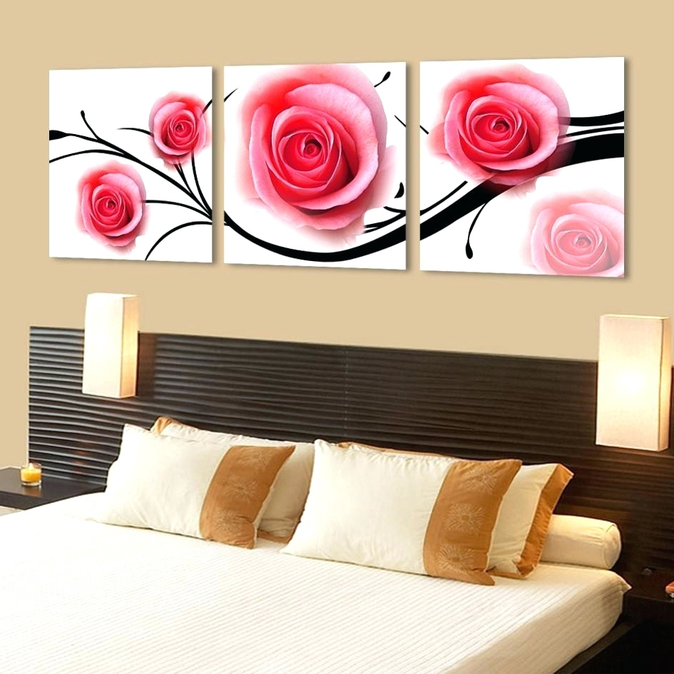 Rose Canvas Wall Art Within Recent Wall Arts ~ Red Rose Canvas Wall Art Red Rose Canvas Art Rose Gold (View 14 of 15)