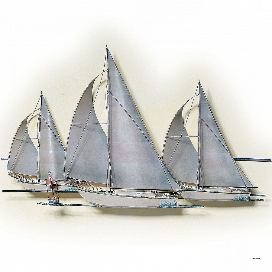 Super 15 Best Collection of Sailboat Metal Wall Art OY27