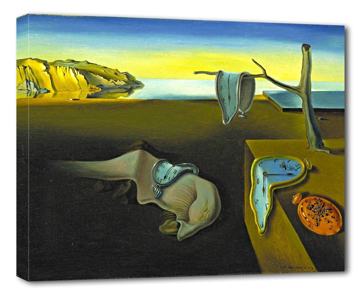 Salvador Dali Wall Art Intended For Famous Salvador Dali The Persistence Of Memory Canvas Print Wall Decor (View 13 of 15)