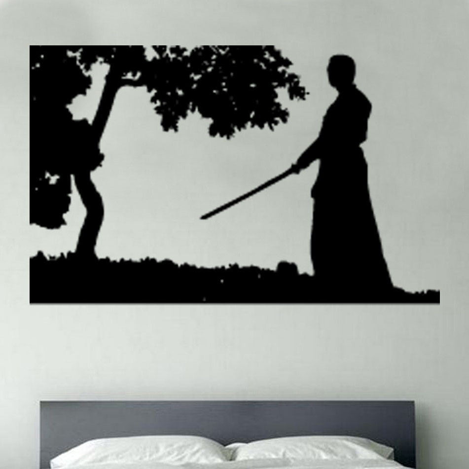Samurai Wall Art Throughout Favorite Wall Art Design Ideas: Vinly Samurai Wall Art Tree Old People (View 4 of 15)