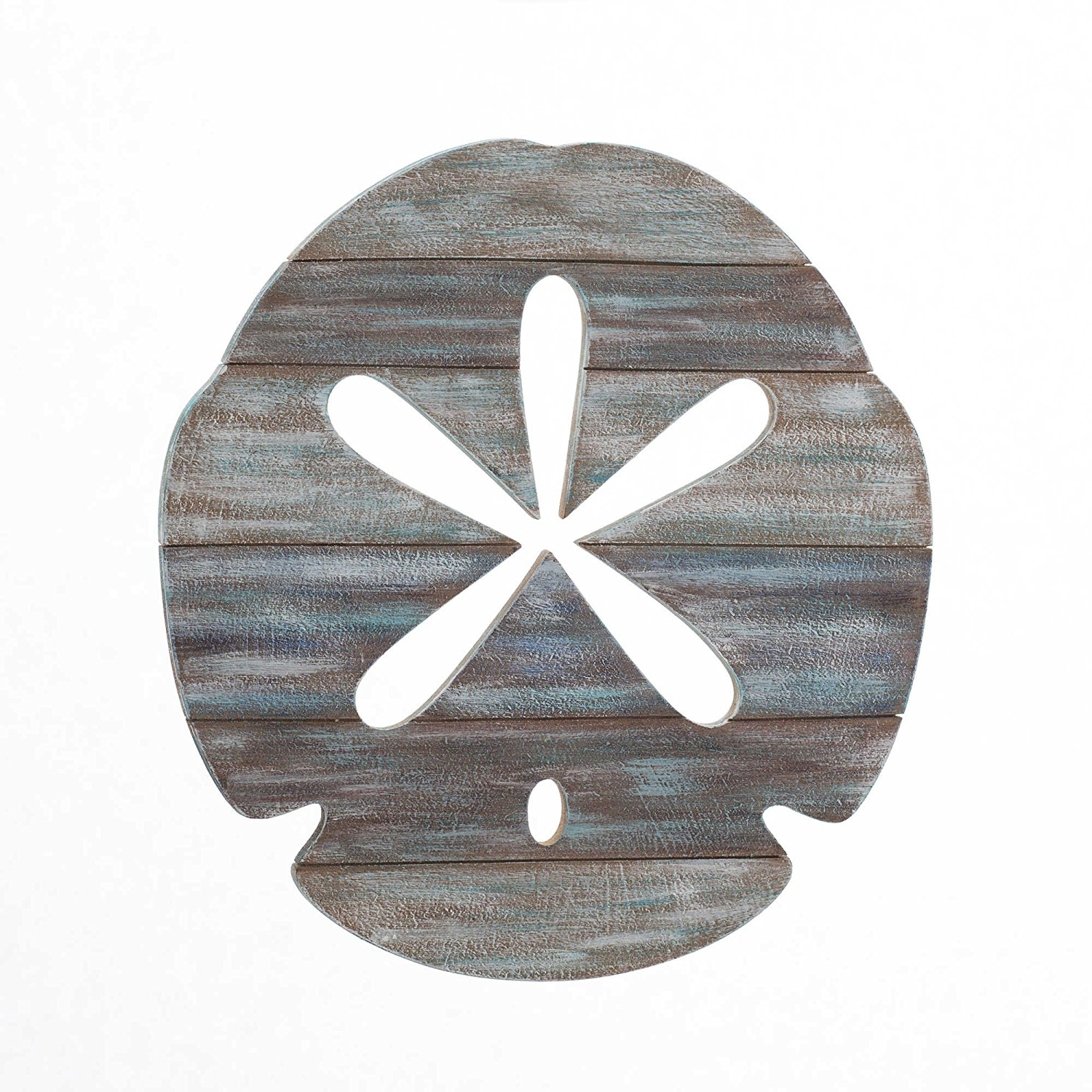 Sand Dollar Wall Art For Well Known Amazon: Sand Dollar Slatwood Panel Wall Art In Weathered Ivory (View 2 of 15)