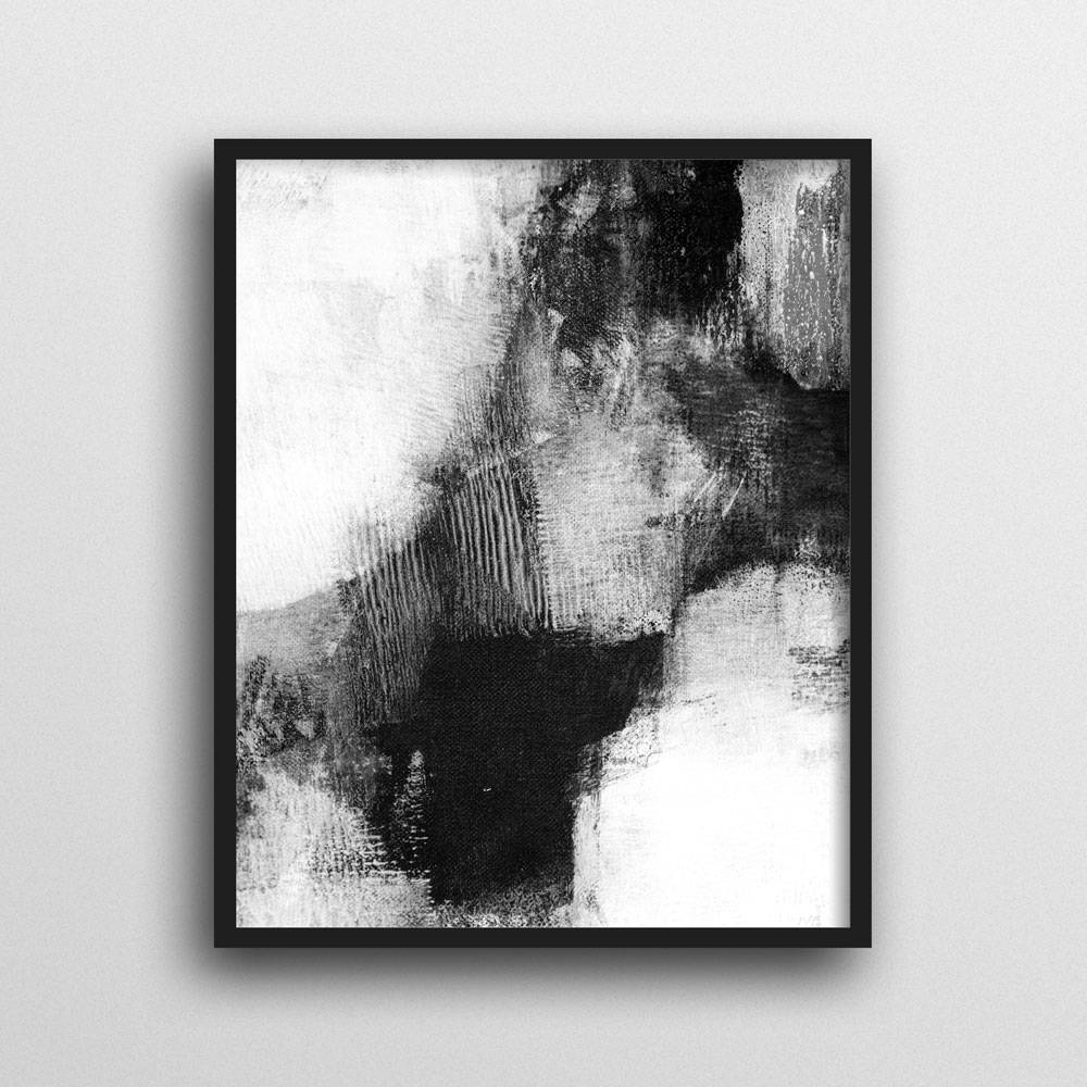 Scandinavian Print, Abstract Wall Art Prints, Black & White Wall For Popular Black And White Abstract Wall Art (Gallery 9 of 15)