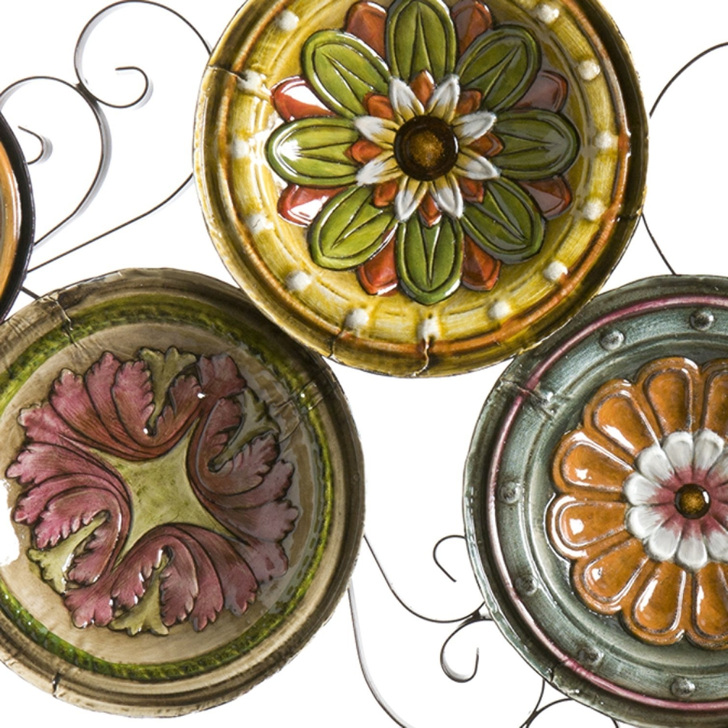 Scattered Italian Plates Wall Art Within Most Popular Amazon: Scattered Italian Plates Wall Art: Home & Kitchen (Gallery 4 of 15)
