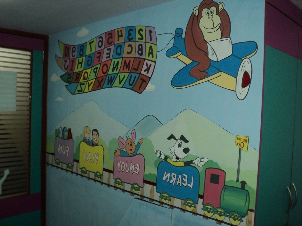 School Kids Classroom Wall Murals Dadar For Newest Wall Art For Kindergarten Classroom (View 10 of 15)