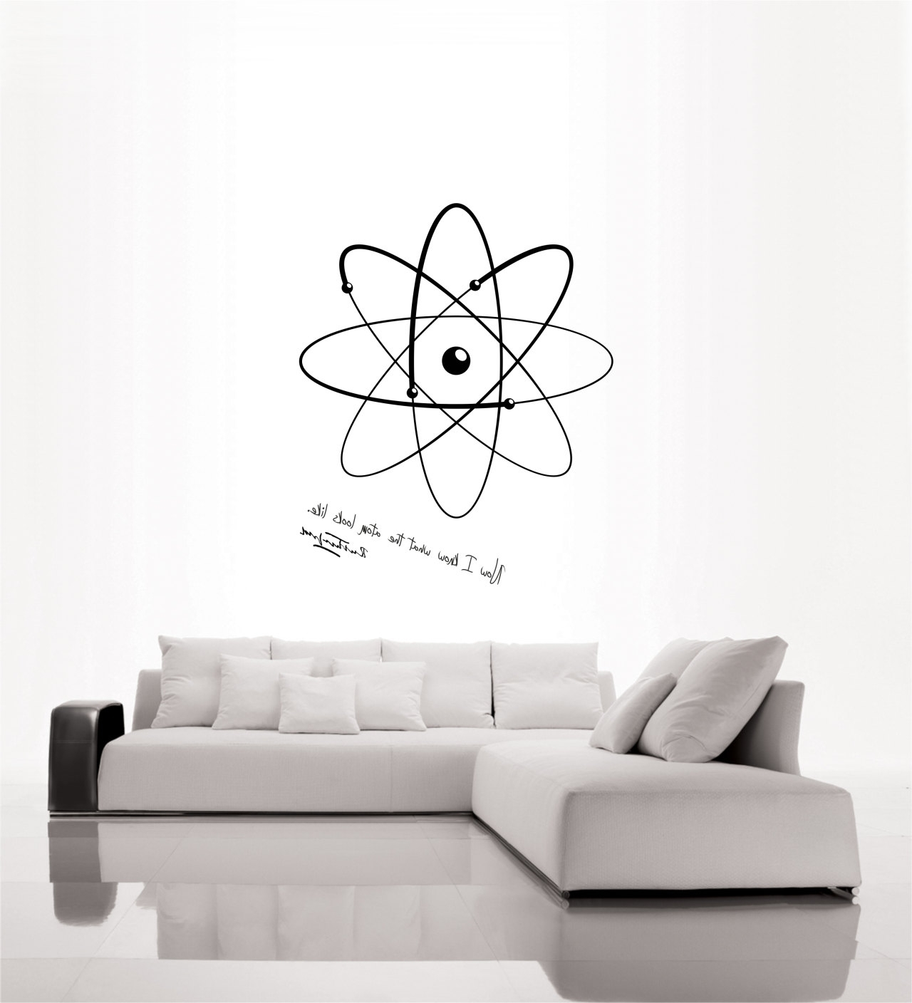 Science Art Physics Rutherford Quote And Model Of Atom Vinyl Wall Inside 2018 Classroom Vinyl Wall Art (View 9 of 15)