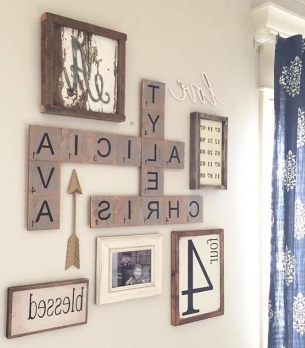 Scrabble Letters Wall Art Regarding Fashionable Oversized Scrabble Wall Art … (View 10 of 15)