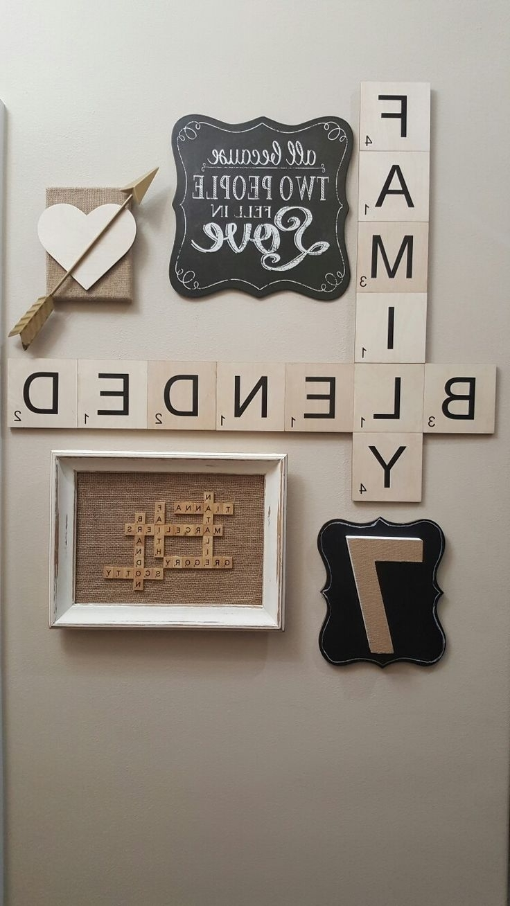 Scrabble Letters Wall Art With Regard To Trendy The 25+ Best Scrabble Wall Art Ideas & Top 15 of Scrabble Letters Wall Art