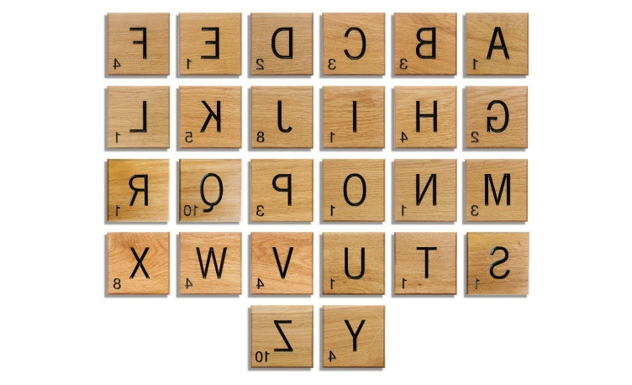 Scrabble Wall Art Makipera Com Giant Novelty Solid Oak Scrabble Pertaining To Preferred Scrabble Letter Wall Art (View 9 of 15)