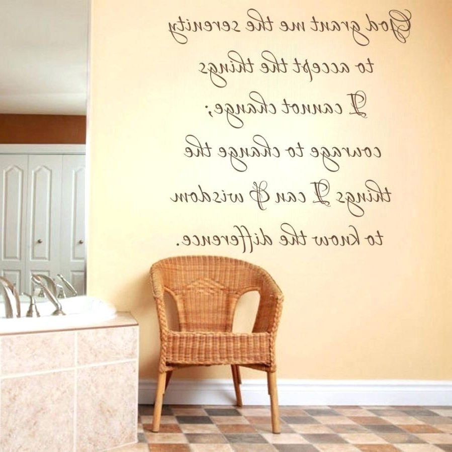 Scripture Vinyl Wall Art With Most Recent Scripture Vinyl Wall Decals Wall Ideas Scripture Wall Art Bible (Gallery 8 of 15)