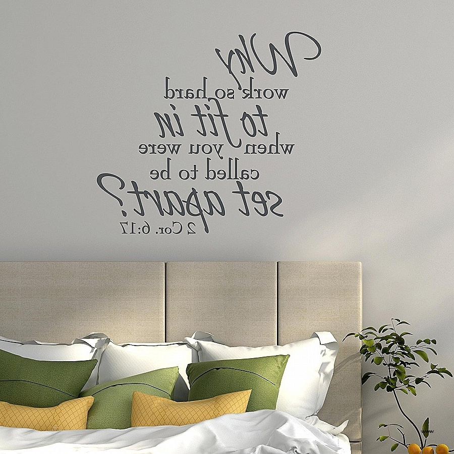 Scripture Vinyl Wall Art With Regard To Widely Used Vinyl Wall Art Scripture Unique Vinyl Wall Decals Bible Verses  (View 11 of 15)