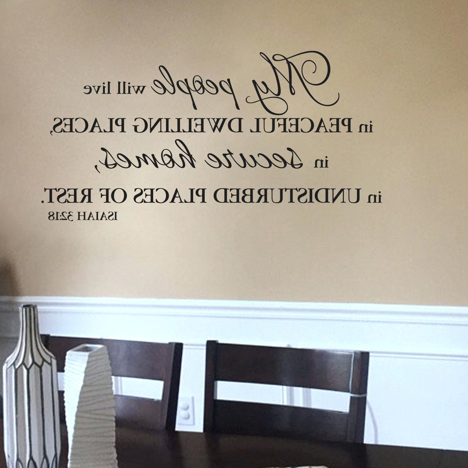 Scripture Vinyl Wall Decals John I Verse Wall Decal Quotes In Well Known Scripture Vinyl Wall Art (View 13 of 15)