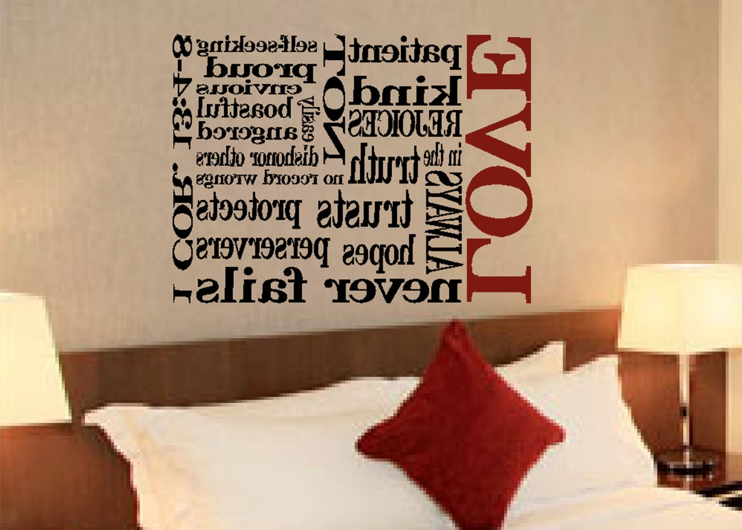 Scripture Wall Vinyl – Bible Verse – 1 Corinthians 13:4 8  Love With Well Liked 1 Corinthians 13 Wall Art (View 14 of 15)