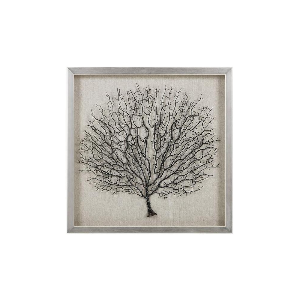 Sea Fan Wall Art In Latest Blue Coral Wall Art Navy Blue Coral Print Navy White Wall (View 3 of 15)